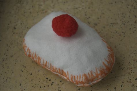 sufgania donut made of an old tshirt