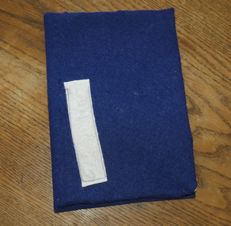 Felt covered travel notebook