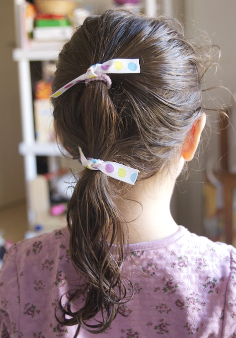 hair elastics with ribbon