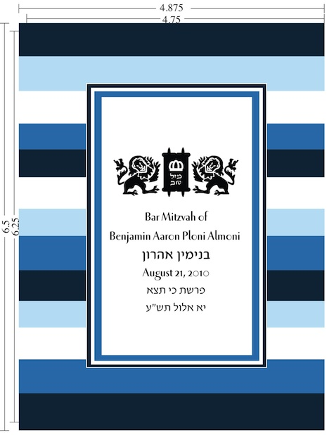 Bnei Akiva birkon Template with measurements