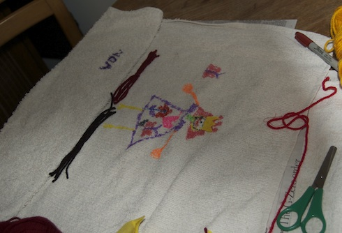Towel apron in process