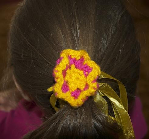 Croceted hair kuku with ribbons copyright birkatchaverim