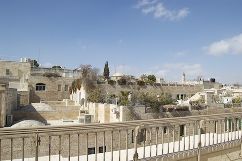 View of the old city via birkat chaverim