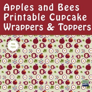 New cupcake wrappers and toppers for the holidays which also match bencher covers. Via Birkat Chaverim