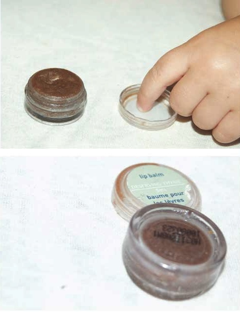 Sweet New Year Homemade with kids lip balm in recycled lip balm container via birkat chaverim