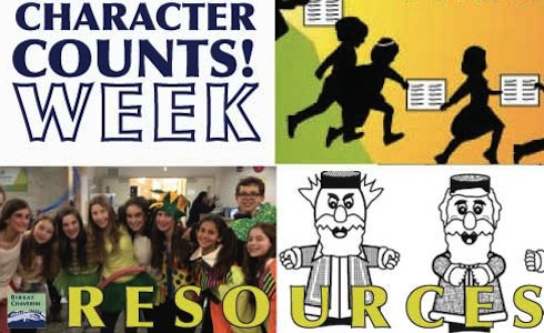 character counts week resources from birkat chaverim