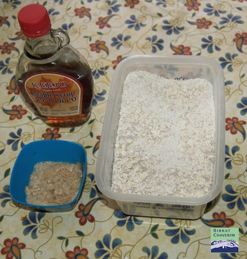 photo of homemade oatmeal made to work on getting rid of hametz via Birkat Chaverim