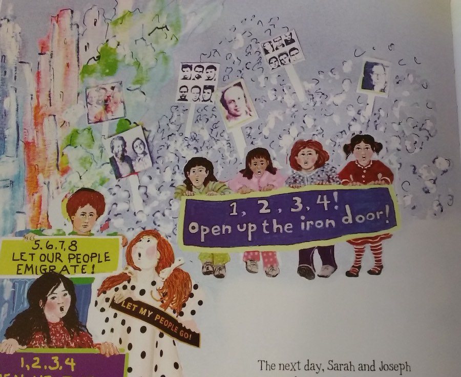 Detail One Two Three Four Open Up the Iron Door, Illustration by Caryl Herzfeld from An Extra Seat
