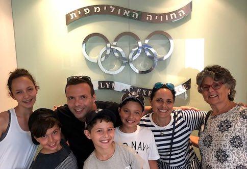 Family enjoying the Sports Rabbi Experience Olympic Experience