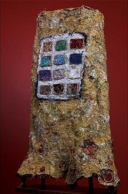 Melanie Siegel Torah Mantle, metalic threads.