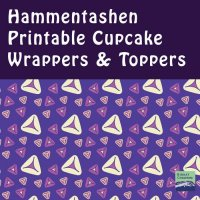 Purim Cupcake Wrappers + Toppers