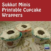 Sukkot Mini Cupcake Wrappers