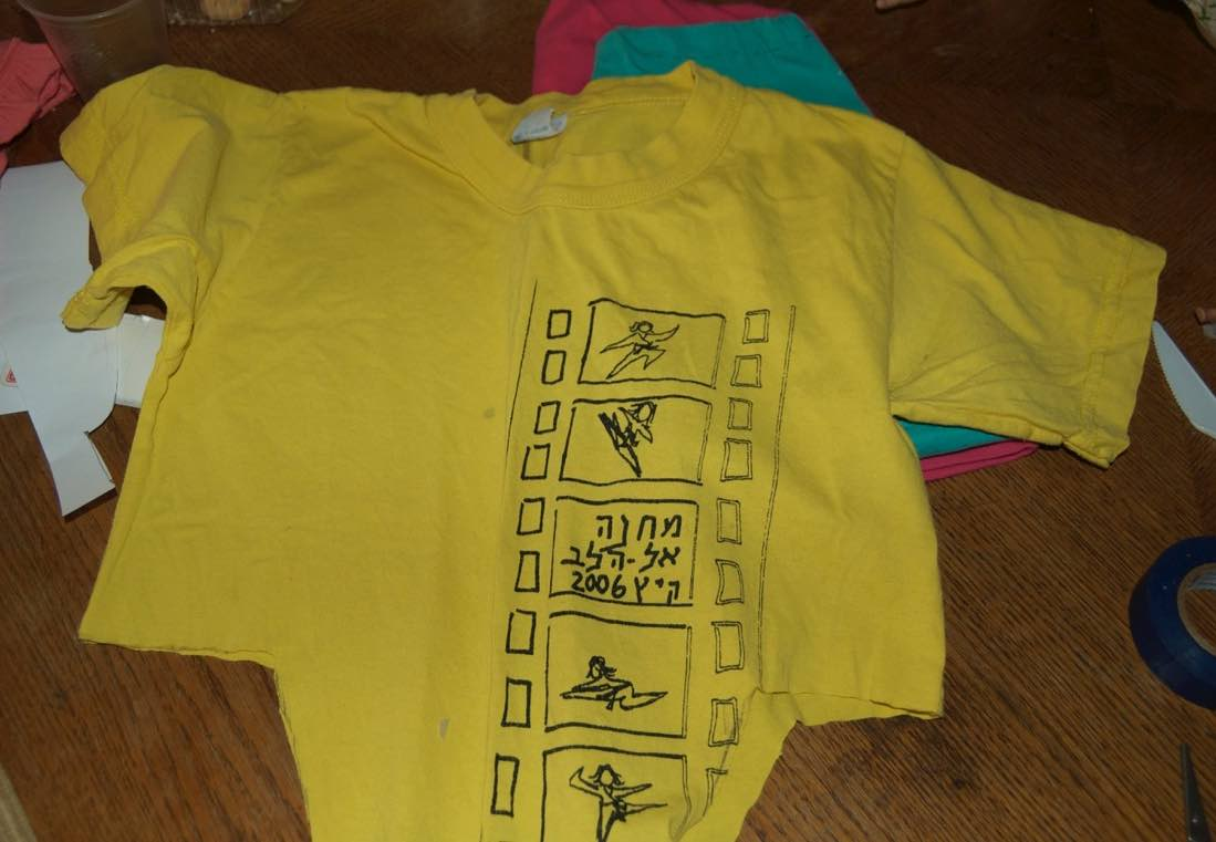 Tshirt after pieces cut out