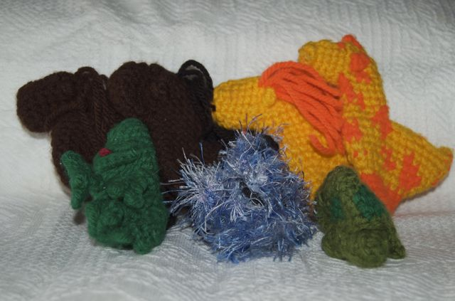 Handmade crocheted animals via birkat chaverim