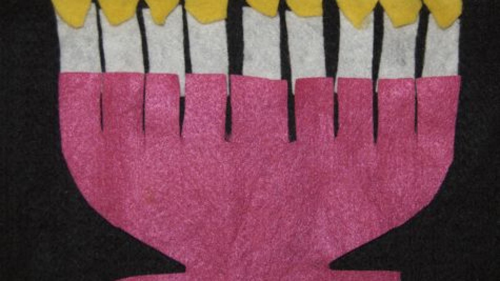 Hanukkah lamp feltboard