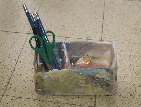 Desk container