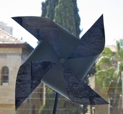 Jerusalem stone pinwheel