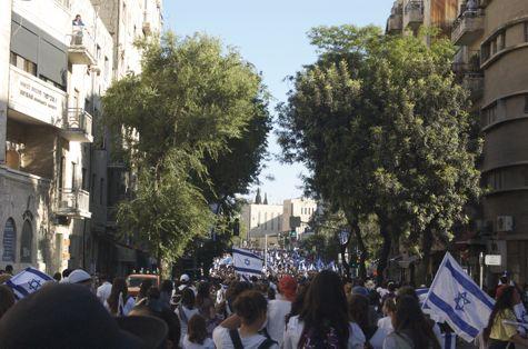 Jerusalem flag parade Yom Yerushalayim