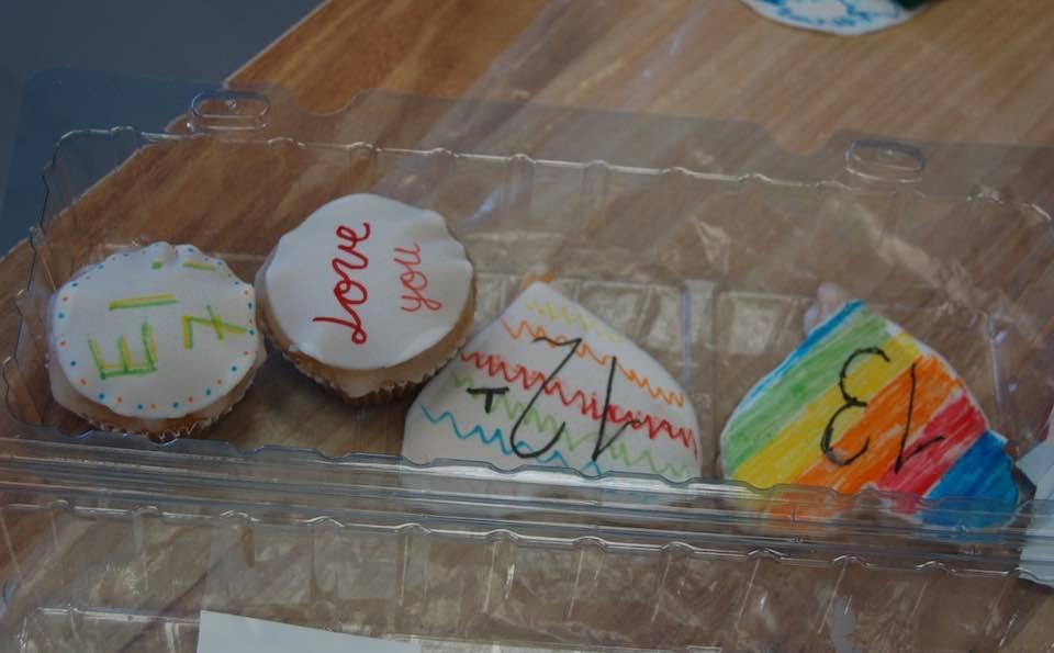 decorated cupcakes at a Bat Mitzvah