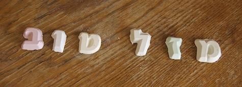 mazal tov homemade chalk Hebrew letters