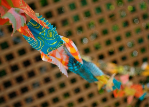 A stitch in Color Sukkah Chain copyright Malka Dubrawsky