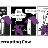 Interrupting Cow joke as a graphic