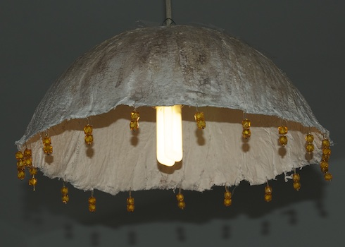 Plaster gauze lamp from birkat chaverim