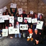 Kol Haot Students Show off their Hebrew letters Photo Courtesy Kol Haot via Birkat Chaverim