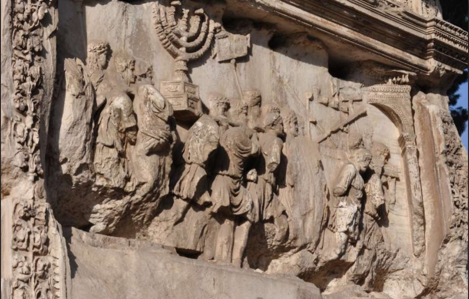 menorah panel archi of titus digitization project via birkat chaverim. Images courtesy Professor Fine, Yeshiva University