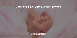 baby feet on pink blanket as backdrop for text Zeved Habat Resources