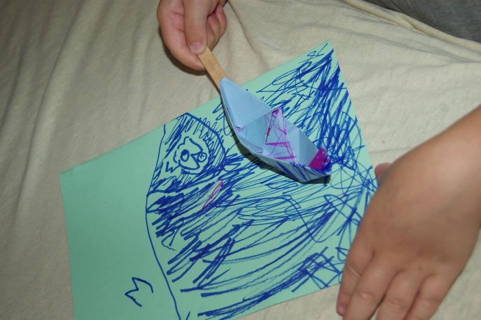 Child made Jonah Magnet Project