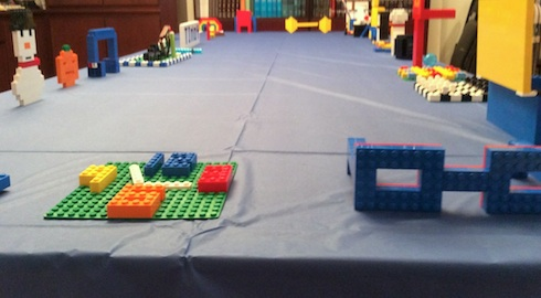 Overview of the Lego Museum created as part of a Bat Mitzvah project fundraiser