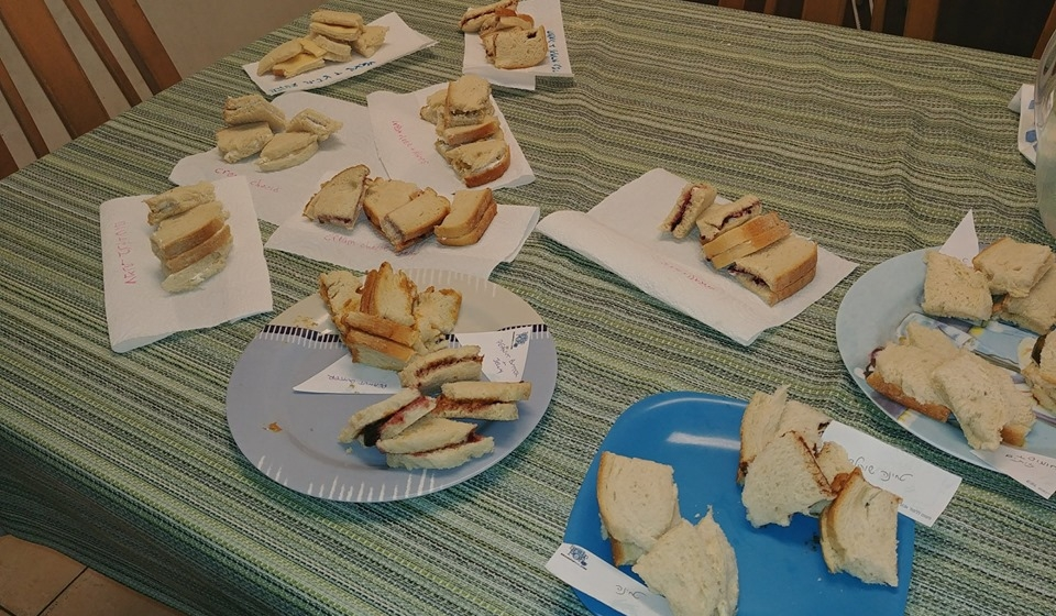 sandwiches lunch box taste testing